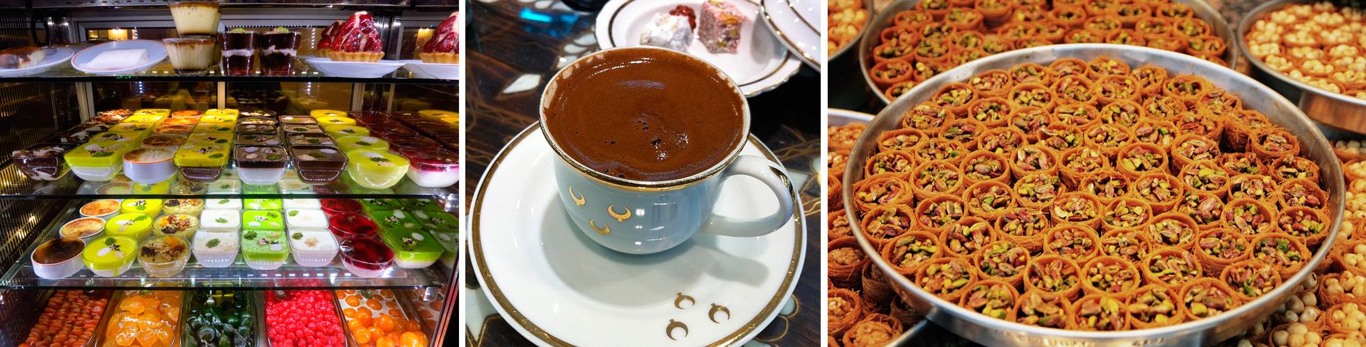 baklava, cafe turco y delicias