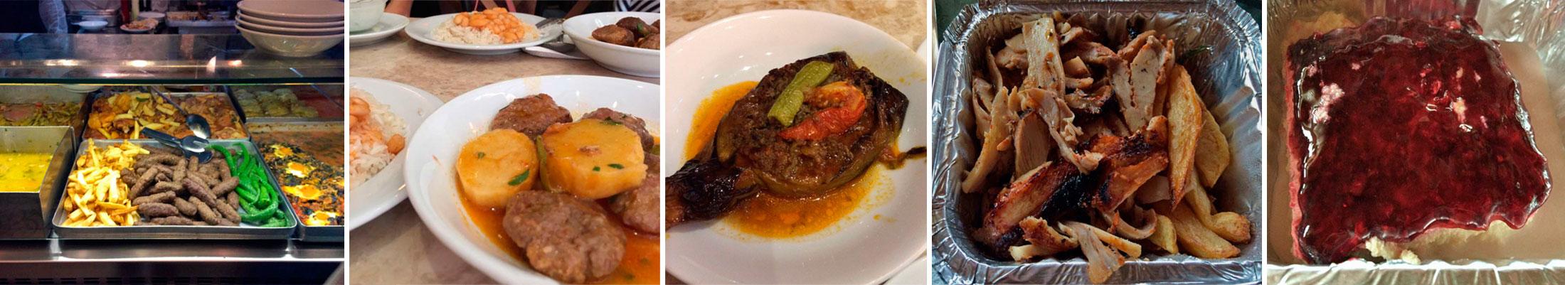 Comida casera en el restaurante Çelebi